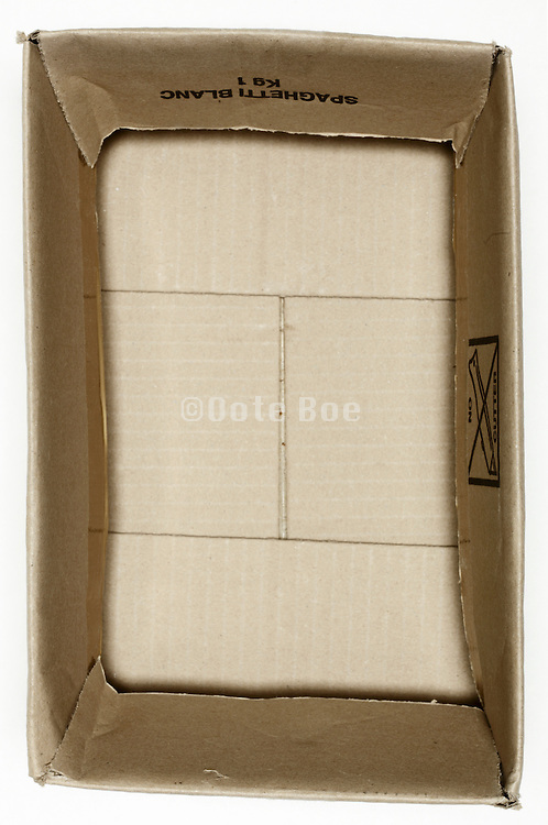 still life carton box with cover flaps folded inside