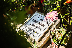 © Licensed to London News Pictures. 07/07/2015. Leeds, UK. Picture shows the Grave of Hasib Hussain who was the youngest of the London suicide bomber. Hussain, 18, detonated a bomb on a bus at Tavistock Square killing 13 people. Leeds was home to three of the London suicide bombers & is today preparing to remember the 56 people that died ten years ago today. Photo credit : Andrew McCaren/LNP
