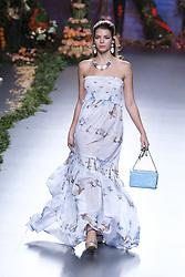 September 17, 2016 - Madrid, Madrid, Spain - A models walks during Francis Montesinos Fashion Show at Madrid Fashion Week Spring/Summer 2017/18 at Ifema, on September 17, 2016, in Madrid, Spain. (Credit Image: © Oscar Gonzalez/NurPhoto via ZUMA Press)