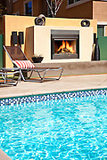 Community Pool And Fireplace