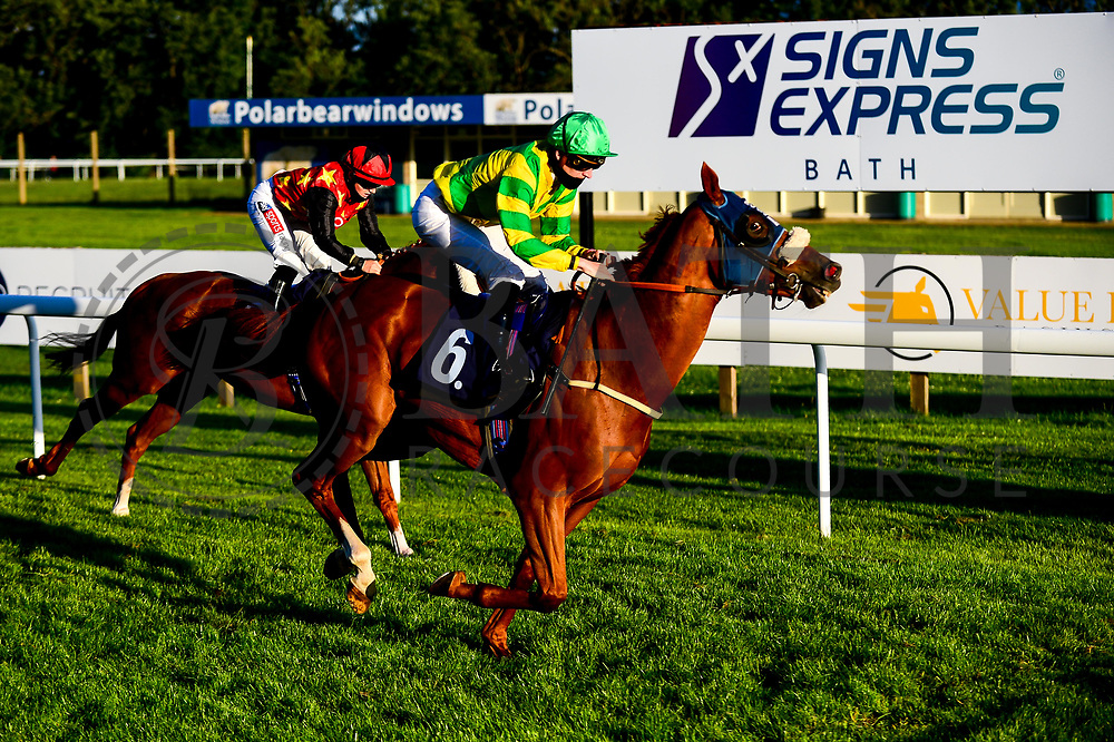 Capricorn Prince ridden by Hector Crouch trained by Gary Moore wins the Attheraces.com Handicap - Mandatory by-line: Dougie Allward/JMP - 10/07/2020 - HORSE RACING - Bath Racecourse - Bath, England - Bath Races