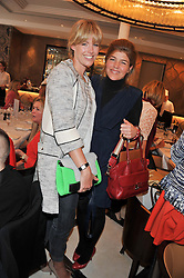 Left to right, MARINA FOGLE and AMBER NUTTALL at a lunch to launch Cash & Rocket on Tour 2013 hosted by Julia Brangstrup in aid of Orpan Aid and Shine on Sierrra Leone held at Banca, 40 North Audley Street, London on 29th April 2013.