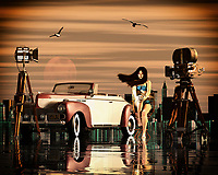 What girl doesn't dream of acting in a film. This image contains a scene that takes place in New York. A classic car, seagulls and a camera complete the picture. –<br /> -<br /> BUY THIS PRINT AT<br /> <br /> FINE ART AMERICA<br /> ENGLISH<br /> https://janke.pixels.com/featured/dreaming-of-a-movie-set-jan-keteleer.html<br /> <br /> <br /> WADM / OH MY PRINTS<br /> DUTCH / FRENCH / GERMAN<br /> https://www.werkaandemuur.nl/nl/shopwerk/Dromen-van-een-filmset/808853/132?mediumId=1&size=70x55<br /> <br /> -