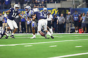 Penn State Nittany Lions safety Jaquan Brisker (7) breaks up a pass against  Memphis Tigers wide receiver Antonio Gibson 14) during the game of the NCAA Cotton Bowl Classic football game, Saturday, Dec. 28, 2019 at AT&T Stadium in Arlington, Texas. Penn State defeated Memphis 53-39. (Mario Terrana/Image of Sport)