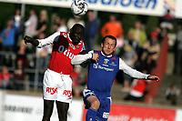 Fotball - Bryne Stadion<br />Adecco ligaen  2007 - <br />29..04.2007  -<br />Bryne - Sparta Sarpsborg<br />Foto: Sigbjørn Andreas Hofsmo, Digitalsport <br /><br />Paul Oyaga - Bryne<br />Arthur Faranczuk - Sparta Sarpsborg