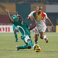 Photo: Steve Bond/Richard Lane Photography.<br /> Nigeria v Mali. Africa Cup of Nations. 25/01/2008. Joseph Yobo (L) times his tackle on Frederic Kanoute (R) perfectly