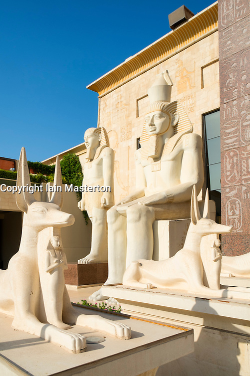 Egyptian themed architecture at Wafi Mall in Duabi United Arab Emirates