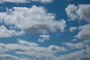 Blue sky white clouds, morning<br /> *ADD TO CART FOR LICENSING OPTIONS*