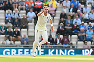 Stuart Broad of England appeals for an lbw against KL Rahul of India who is given not out during the first day of the 4th SpecSavers International Test Match 2018 match between England and India at the Ageas Bowl, Southampton, United Kingdom on 30 August 2018.