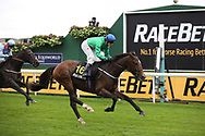 JUST HISS (16) ridden by Rachel Richardson and trained by Tim Easterby winning The Racebets Money Back 2nd 3rd 4th Handicap Stakes over 1m (£30,000)   during the Countryside Raceday, October Finale at York Racecourse, York, United Kingdom on 12 October 2018. Pic Mick Atkins