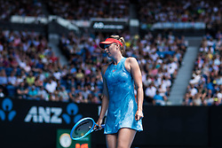 January 20, 2019 - Melbourne, VIC, U.S. - MELBOURNE, VIC - JANUARY 20: MARIA SHARAPOVA (RUS) during day seven match of the 2019 Australian Open on January 20, 2019 at Melbourne Park Tennis Centre Melbourne, Australia (Photo by Chaz Niell/Icon Sportswire) (Credit Image: © Chaz Niell/Icon SMI via ZUMA Press)