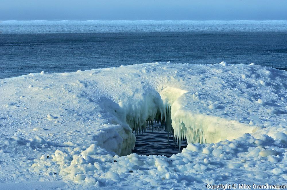 Spring ice on Lake Superior, Near Rossport, Ontario, Canada