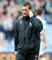 19/04/15 WILLIAM HILL SCOTTISH CUP SEMI-FINAL<br /> INVERNESS CT v CELTIC<br /> HAMPDEN - GLASGOW<br /> Dejection for Celtic manager Ronny Deila at full-time