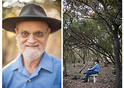 Dr. Ben Mann, a Stanford educated mathematician and program manager for DARPA walks the 2.75 acres of his property in the Texas hill country while working through mathematical problems.