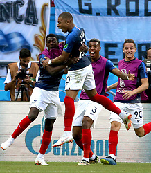 June 30, 2018 - Kazan, Russia - KYLIAN MBAPPE (2nd L) of France celebrates scoring during the 2018 FIFA World Cup round of 16 match between France and Argentina in Kazan, Russia, June 30, 2018. (Credit Image: © Li Ming/Xinhua via ZUMA Wire)