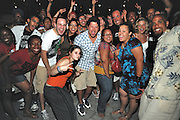 People dancing, partying, and have a good time at Lee Jones's open air Sundae dance party in 2009. This weekly event is held at the the Piazza at Schmidt's in Northern Liberties in Philadelphia each Sunday.