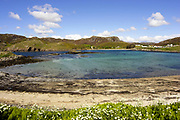 Scourie village & Scourie Bay, by Unapool, Sutherland, Highland.