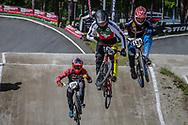 #256 (BRUNNER Gil) SUI and #149 (RUIZ MUNOZ Juan Felipe) COL during round 4 of the 2017 UCI BMX  Supercross World Cup in Zolder, Belgium.