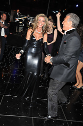 LISA TCHENGUIZ dancing with STEVE VORSARI at the inaugural Gabrielle's Gala in London in aid of Gabrielle's Angel Foundation for Cancer Research held at Battersea Power Station, London on 7th June 2012.