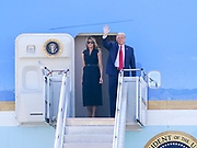 Nashville,TN President Donald J Trump and First Lady Melania Trump greet 175 Airmen of the Tennessee Air National Guard 118th Wing at Berry Field in Nashville, TN on October, 22 2020