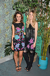 Left to right, ROSANNA FALCONER and GEORGIE MACINTYRE at the launch of Matthew Williamson's 'Sea to Shore' range for The Outnet.com held at the Matthew Williamson's showroom, Studio 10-11, 135 Salusbury Road, London NW6 on 5th May 2016