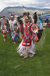 WY: Wyoming, Cody: Dancing at June Powwow of Plains Indians.Photo #: yellow651..Photo copyright Lee Foster, 510/549-2202, lee@fostertravel.com, www.fostertravel.com..