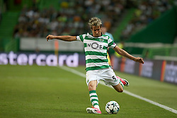 August 15, 2017 - Lisbon, Portugal - Sporting's defender Fabio Coentrao from Portugal in action during the UEFA Champions League play-offs first leg football match between Sporting CP and FC Steaua Bucuresti at the Alvalade stadium in Lisbon, Portugal on August 15, 2017. (Credit Image: © Pedro Fiuza/NurPhoto via ZUMA Press)