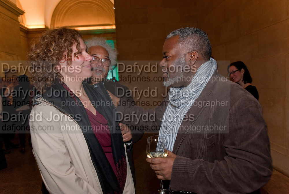 SUSAN STOCKWELL; PAUL GOODWIN, Migrations private view, Tate Britain. London. 30 January 2012.