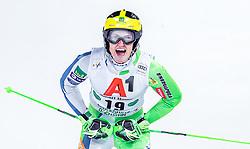 "29.01.2019, Planai, Schladming, AUT, FIS Weltcup Ski Alpin, Slalom, Herren, 2. Lauf, im Bild Stefan Hadalin (SLO) // Stefan Hadalin of Slovenia reacts after his 2nd run of men's Slalom ""the Nightrace"" of FIS ski alpine world cup at the Planai in Schladming, Austria on 2019/01/29. EXPA Pictures © 2019, PhotoCredit: EXPA/ JFK"