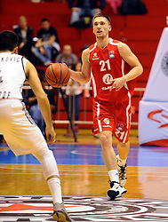 DOMEN BRATOZ, kosarkasi Tajfuna, na utakmici protiv Partizana.<br /> Beograd, 20.11.2015.<br /> foto: Nebojsa Parausic<br /> <br /> Kosarka, Partizan, Tajfun, Jadranska ABA liga