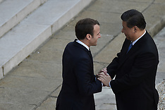 Chinese President Xi Jinping Leaving The Elysee Palace - 26 Mar 2019