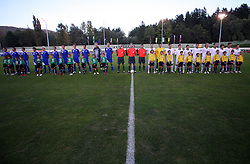 Team Finland and Team Slovenia before the Qualifications for UEFA U-21 EC 2009 soccer match between Slovenia and Finland at Velenje stadion At lake, on September 9,2008, in Velenje, Slovenia.  (Photo by Vid Ponikvar / Sportal Images)