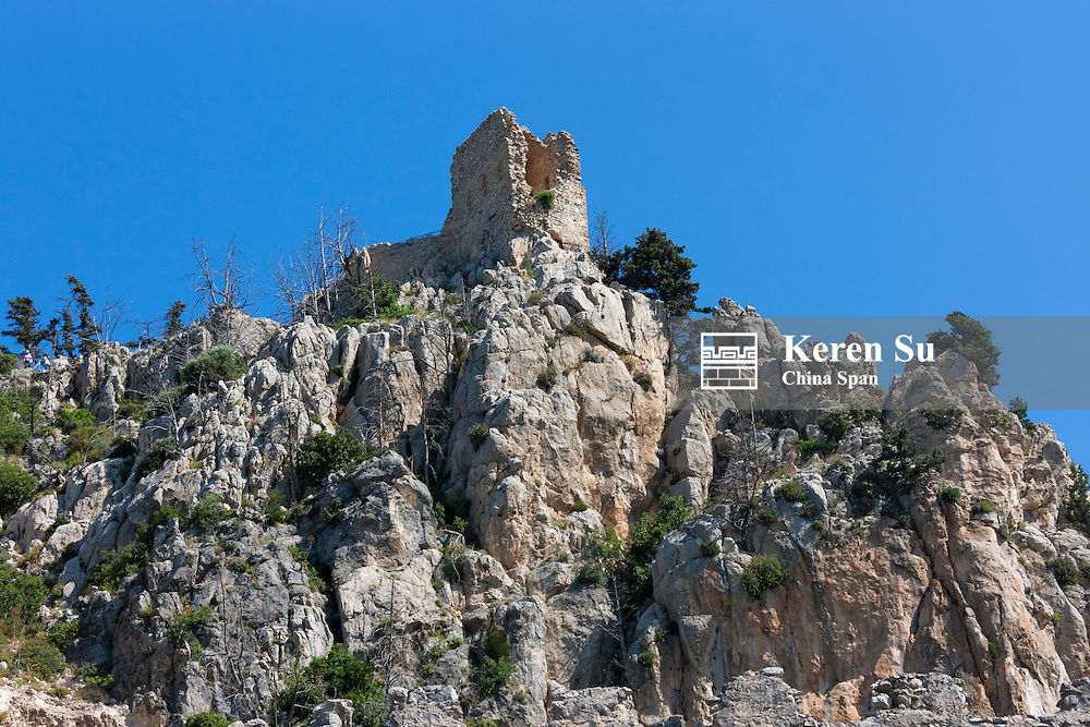 St. Hilarion Castle in Kyrenia district, Turkish Republic of Northern Cyprus