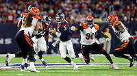 Houston Texans quarterback Tom Savage (3) scrambles out of the pocket during the second half of an NFL football game against the Cincinnati Bengals Saturday, Dec. 24, 2016, in Houston. (AP Photo/Sam Craft)
