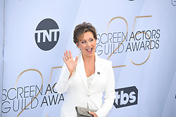 January 27, 2019 - Los Angeles, California, U.S - GABRIELLE CARTERIS during silver carpet arrivals for the 25th Annual Screen Actors Guild Awards, held at The Shrine Expo Hall. (Credit Image: © Kevin Sullivan via ZUMA Wire)
