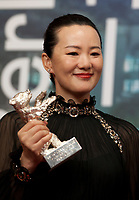 Yong Mei, winner of Silver Bear for Best Actress for the film So long, My Son at the award winners press conference at the 69th Berlinale International Film Festival, on Saturday 16th February 2019, Hotel Grand Hyatt, Berlin, Germany.