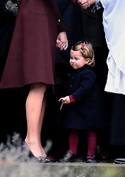 Princess Charlotte of Cambridge  attends a Christmas Day service at St. Marks Church in Englefield on December 25, 2016.