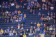 Few Golden State Warriors fans remained in the fourth quarter after the Golden State Warriors blow out the Indiana Pacers at Oracle Arena in Oakland, Calif., on December 5, 2016. (Stan Olszewski/Special to S.F. Examiner)