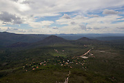 View of Valley de Capao. Chapada Diamantina national park in Bahia, Brazil is a very large park conprising miles of trails, several settlements and spectacular scenery.