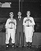 "Ackroyd 00064-6. ""Portland Baseball Club – Boys class. August 19, 1947."" Vaughn St. Stadium, Portland Beavers,"