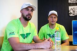 Aleksandar Magovac and Tadej Cimzar at press conference of HK SZ Olimpija before new season 2020-21, on June 22, 2020 in Hala Tivoli, Ljubljana, Slovenia. Photo by Matic Klansek Velej / Sportida