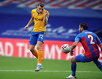 Football - 2020 / 2021 Premier League - Crystal Palace vs Everton<br /> <br /> Controversial Penalty decision :<br /> Joel Ward, who was making his 250th appearance for Palace, makes contact  with Lucas Digne's header.with his arm, at Selhurst Park<br /> <br /> COLORTSPORT/ANDREW COWIE