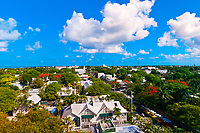 Overviews from the Key West Lighthouse, Key West, Florida Keys, Florida USA