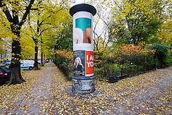 Streets in Kollwitzplatz during autumn in Prenzlauer Berg in Berlin Germany