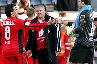 Fotball tippeligaen 05.06.06 Rosenborg - Brann 0-0<br /> Martin Andresen, Mons Ivar Mjelde og Håkon Opdal<br /> Foto: Carl-Erik Eriksson, Digitalsport