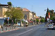 Emek Refaim Street in the German Colony neighbourhood, West Jerusalem, Israel