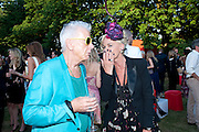 NICKY HASLAM; AMANDA ELIASCH;, The Summer Party. Serpentine Gallery. 8 July 2010. -DO NOT ARCHIVE-© Copyright Photograph by Dafydd Jones. 248 Clapham Rd. London SW9 0PZ. Tel 0207 820 0771. www.dafjones.com.