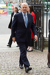 © Licensed to London News Pictures. 20/06/2019. London, UK. Lord John Major  attends a Service of Thanksgiving for Lord Haywood at Westminster Abbey. Jeremy Heywood served as Cabinet Secretary from 2012 and Head of the Home Civil Service until shortly before his death in 2018. Photo credit: Ray Tang/LNP