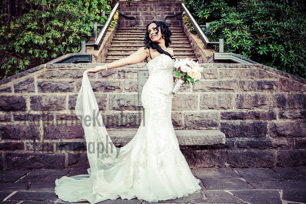 Ethiopian American bride International Rose Test Gardens Portland Oregon.