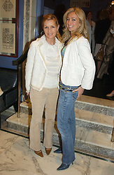 Left to right, AMANDA KYME and JENNY HALPERN at a fashion show with designs by Irish designer Louise Kennedy held in the Blue Bar, Berkeley Hotel, London on 12th May 2005.<br /><br />NON EXCLUSIVE - WORLD RIGHTS